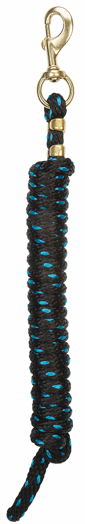 Weaver Leather Poly Lead Rope Black Turquoise Speckle