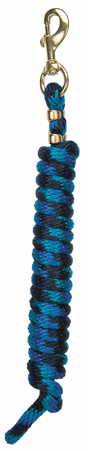 Weaver Leather Poly Lead Rope Navy, Blue, and Turquoise