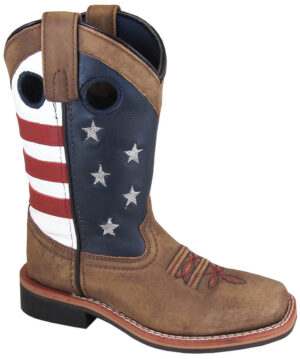 Smoky Mountain Stars and Stripes Cowboy Boots