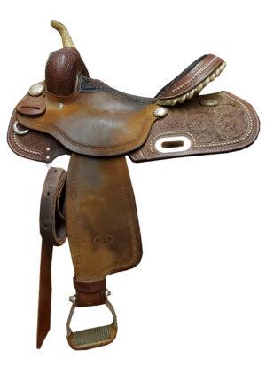 Used Billy Cook Hot Oil Barrel Saddle #1930
