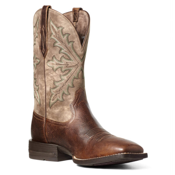 Ariat Qualifier Shock Shield Cowboy Boots Angled View