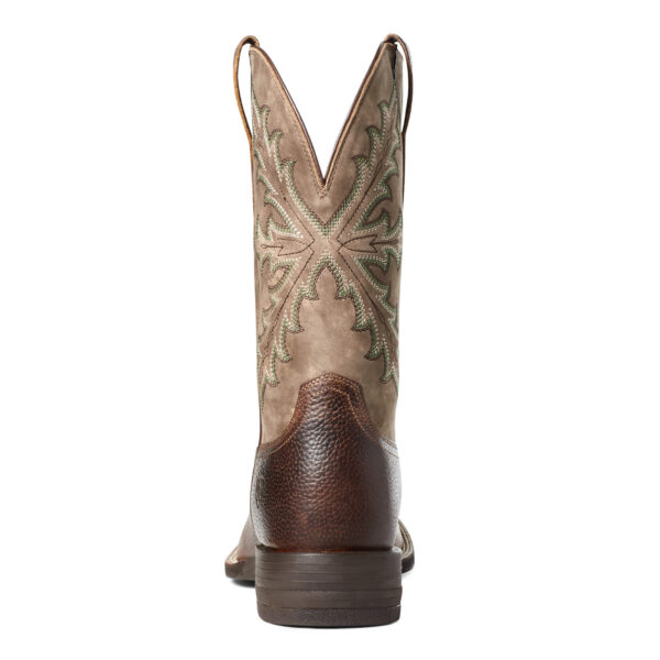 Ariat Qualifier Shock Shield Cowboy Boots Heel VIew
