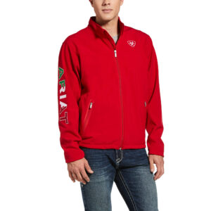Ariat Red Mexico Team Softshell Jacket Front View