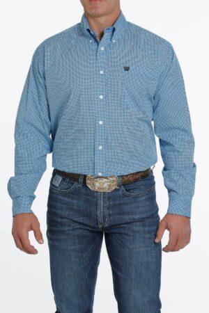 Cinch Light Blue Dot Western Shirt